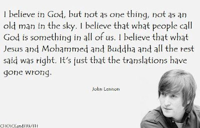 John Lennon quoted..